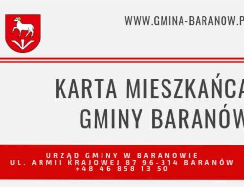 Karta Mieszkańca Gminy Baranów ponownie honorowana