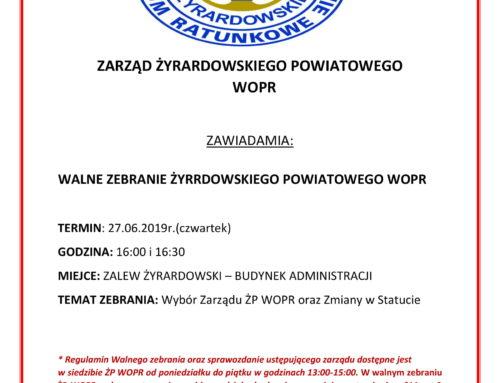 Żyrardowskie Powiatowe WOPR INFORMUJE