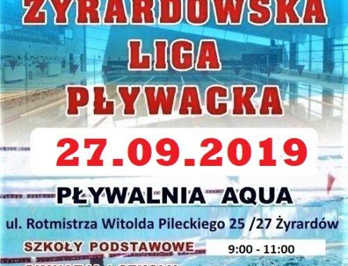 Żyrardowska Liga Pływacka – 27.09.2019r.