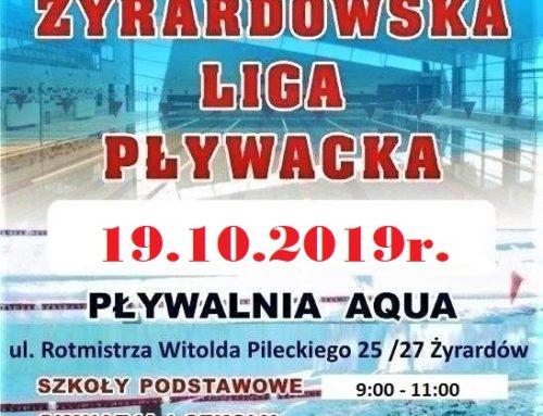 ŻYRARDOWSKA LIGA PŁYWACKA 19.10.2019